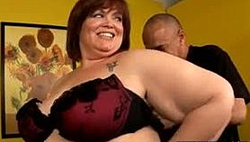 Fat milf with big breasts Jezzebel Joli feeds her lust for black meat Porno Movies